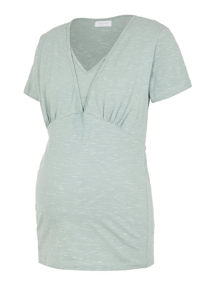 SOLID JERSEY 2-IN-1 MATERNITY TOP, Green Milieu, large