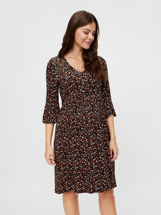FLORAL VISCOSE 2-IN-1 MATERNITY DRESS
