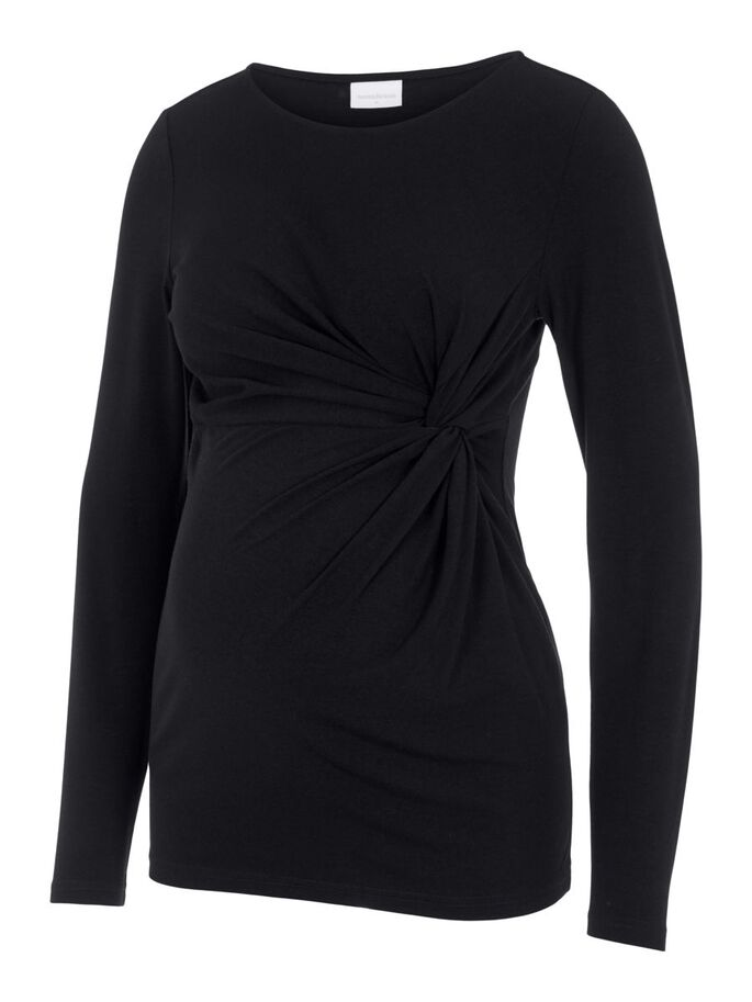 MLMEHA JERSEY TOP DE MATERNITÉ, Black, large
