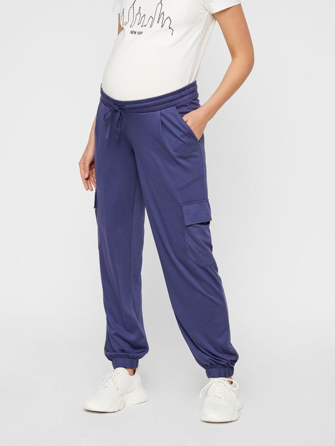 LOOSE FIT JERSEY MATERNITY TROUSERS, Crown Blue, large