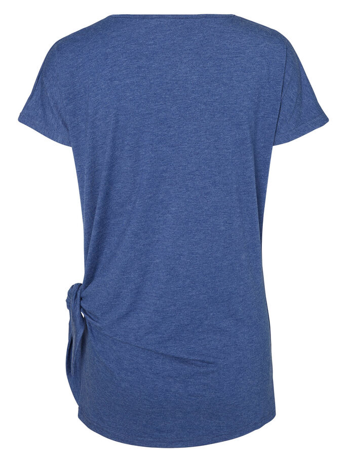 JERSEY NURSING TOP, SHORT SLEEVED, Twilight Blue, large