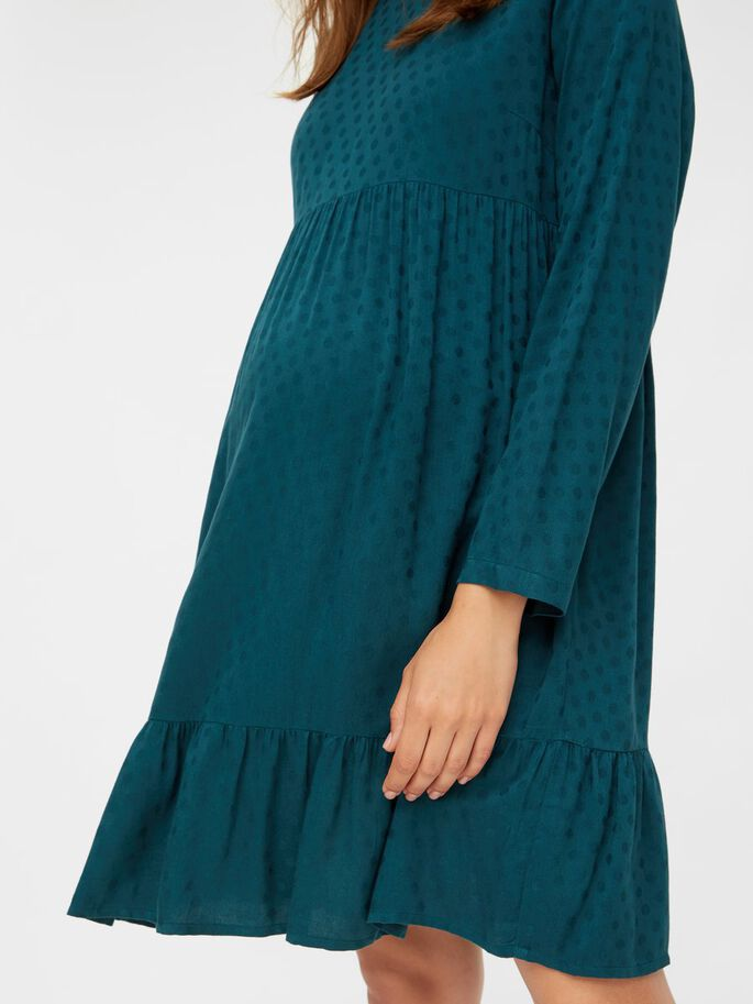 SOLID VISCOSE MATERNITY DRESS, Deep Teal, large