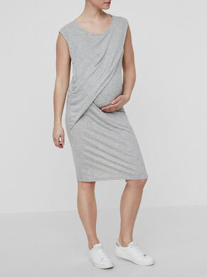 DRAPY DETAILED MATERNITY DRESS