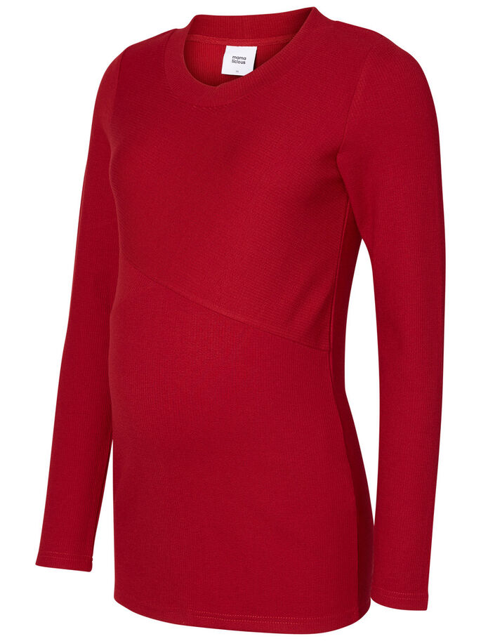 JERSEY MATERNITY TOP, Biking Red, large