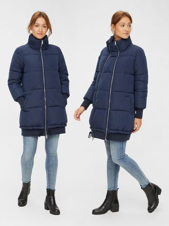 LONG PADDED 2-IN-1 MATERNITY JACKET
