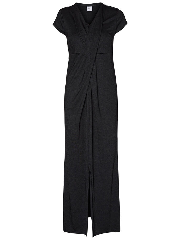 JERSEY-STILL- MAXIKLEID, Black, large