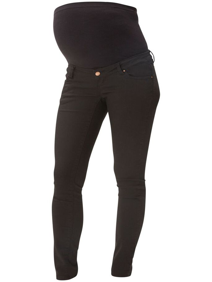 SLIM MATERNITY PANTS, Black, large