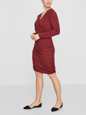 LONG SLEEVED NURSING DRESS