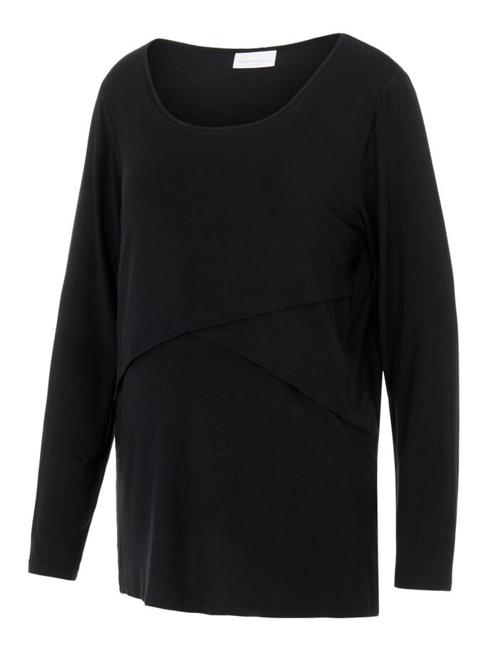 MLCAMMA CURVE 2-IN-1 MATERNITY TOP, Black, large