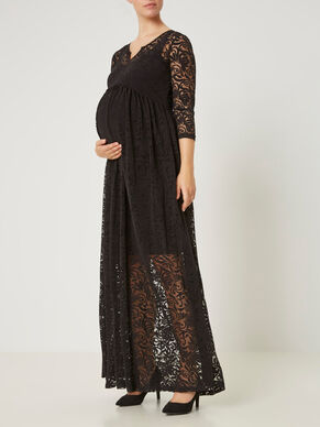 WOVEN MATERNITY DRESS, LONG