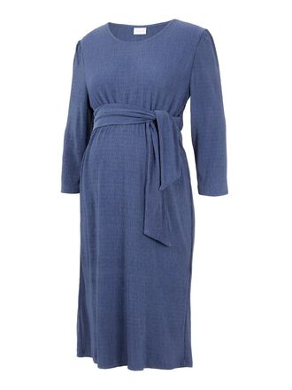 TIE-DETAILED MATERNITY DRESS