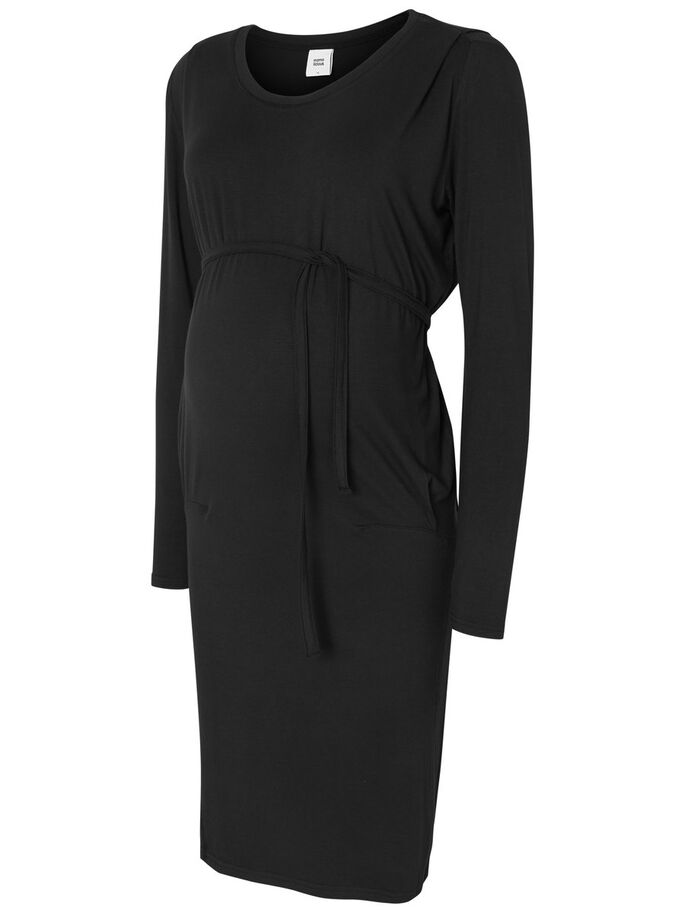 JERSEY ROBE GROSSESSE, Black, large