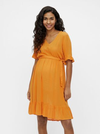 FRILL DETAILED MATERNITY DRESS