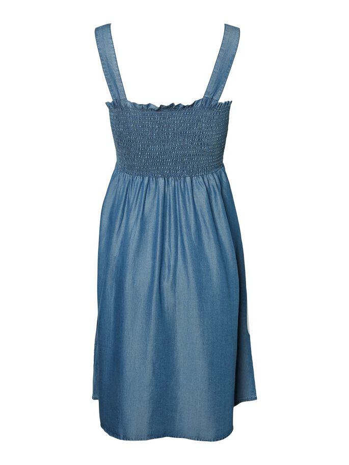 SMOCKÉE ROBE GROSSESSE, Blue Denim, large
