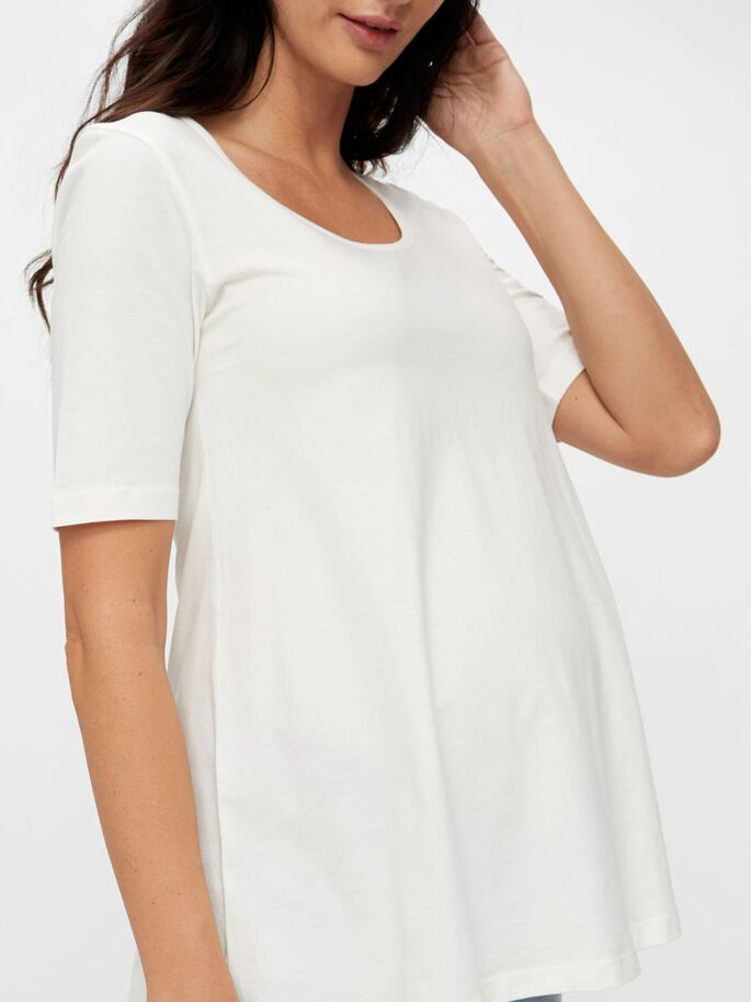 2-PACK LOOSE FIT MATERNITY T-SHIRT, Snow White, large