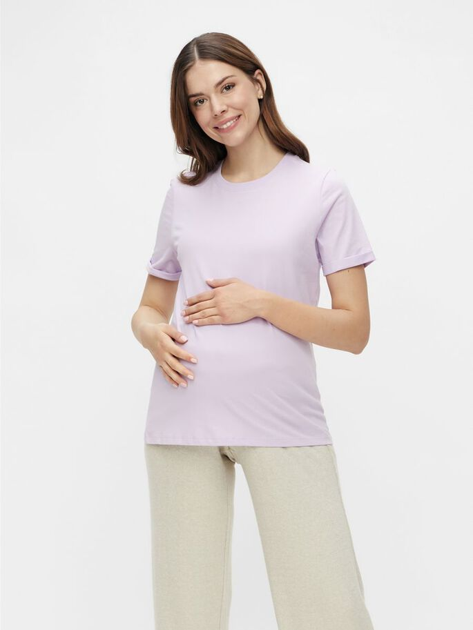 PCMRIA MATERNITY T-SHIRT, Orchid Bloom, large