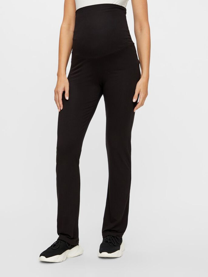 HIGH WAISTED LOOSE MATERNITY TROUSERS, Black, large