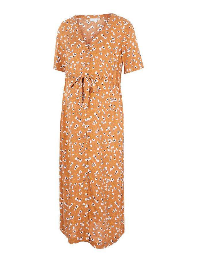 PRINTED VISCOSE MATERNITY MIDI DRESS, Sunburn, large