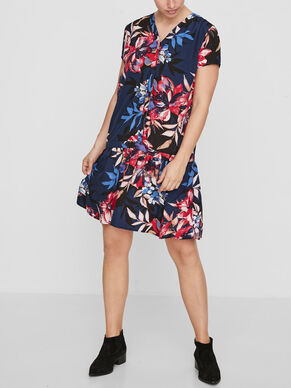FLOWERED NURSING DRESS