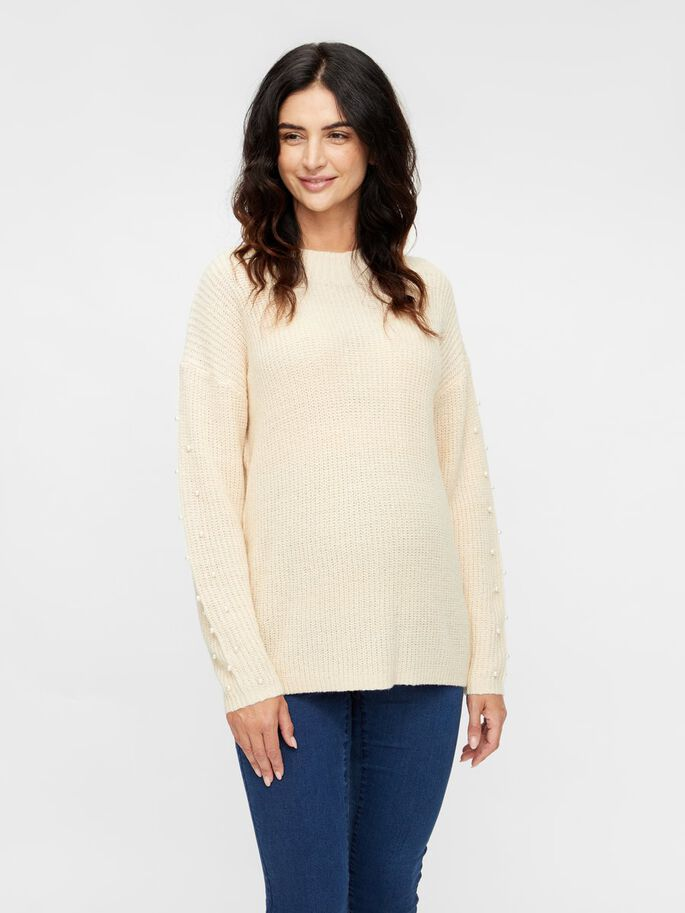 MLGINIA MATERNITY PULLOVER, Parchment, large