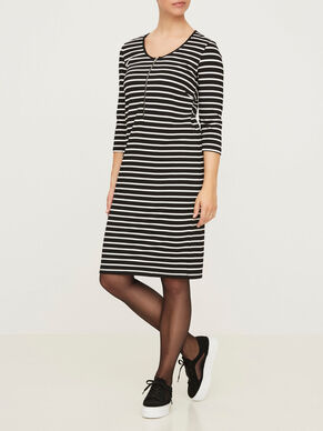 3/4 SLEEVE JERSEY NURSING DRESS, SHORT