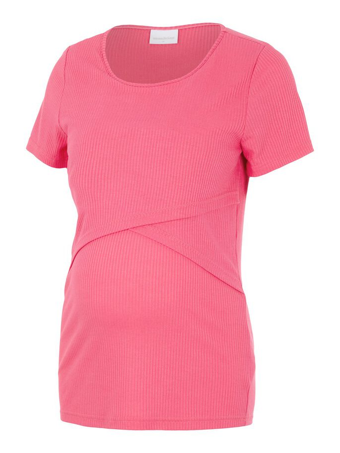 JERSEY 2-IN-1 MATERNITY TOP, Hot Pink, large