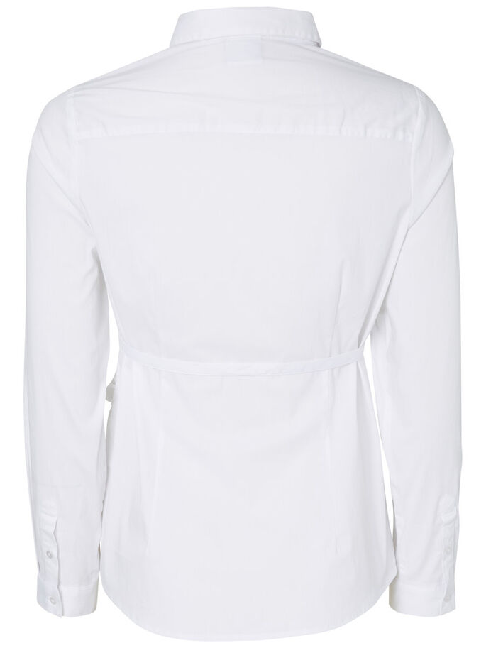 WOVEN MATERNITY SHIRT, Bright White, large