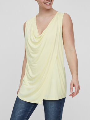 DRAPED DETAILED NURSING TOP, SLEEVELESS