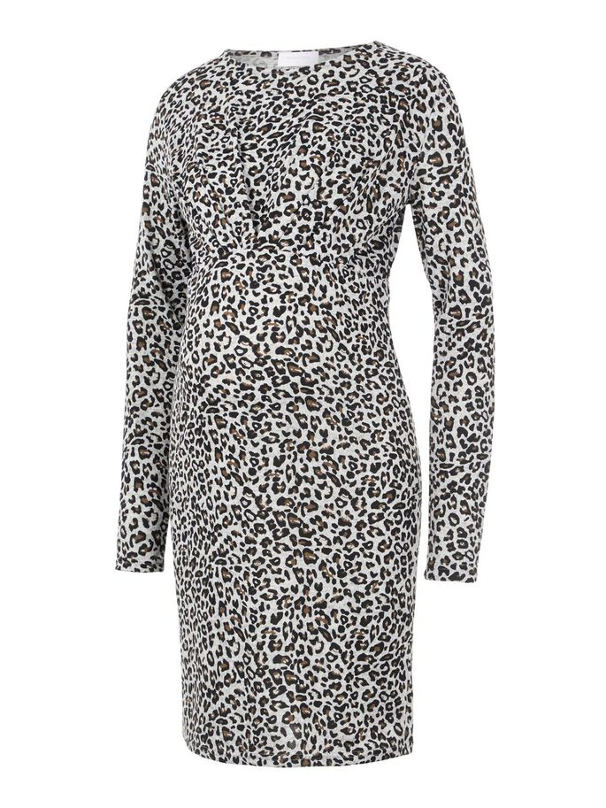 LEOPARD PRINTED MATERNITY DRESS, Snow White, large