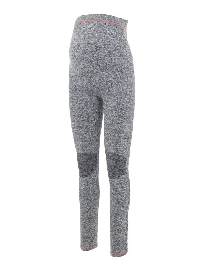 MLFIT ACTIVE MATERNITY TIGHTS, Medium Grey Melange, large