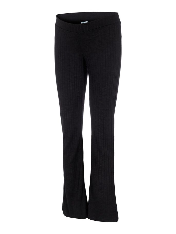 FLARED MATERNITY TROUSERS, Black, large