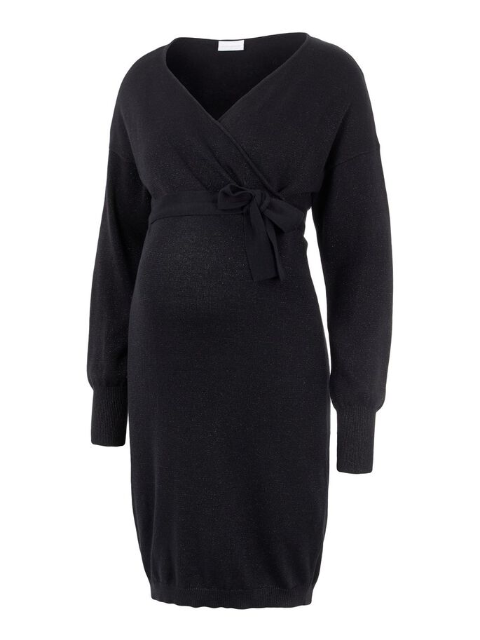 KNITTED 2-IN-1 MATERNITY DRESS, Black, large