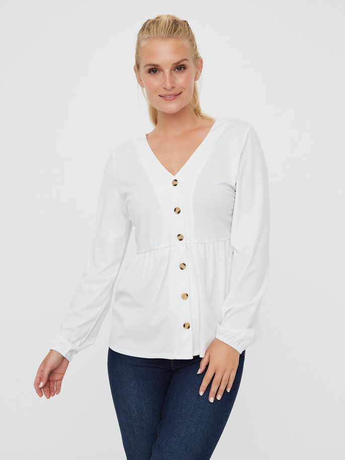 PEPLUM 2-IN-1 MATERNITY TOP, Snow White, large