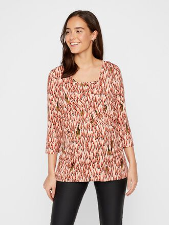 PRINTED WRAP 2-IN-1 MATERNITY TOP