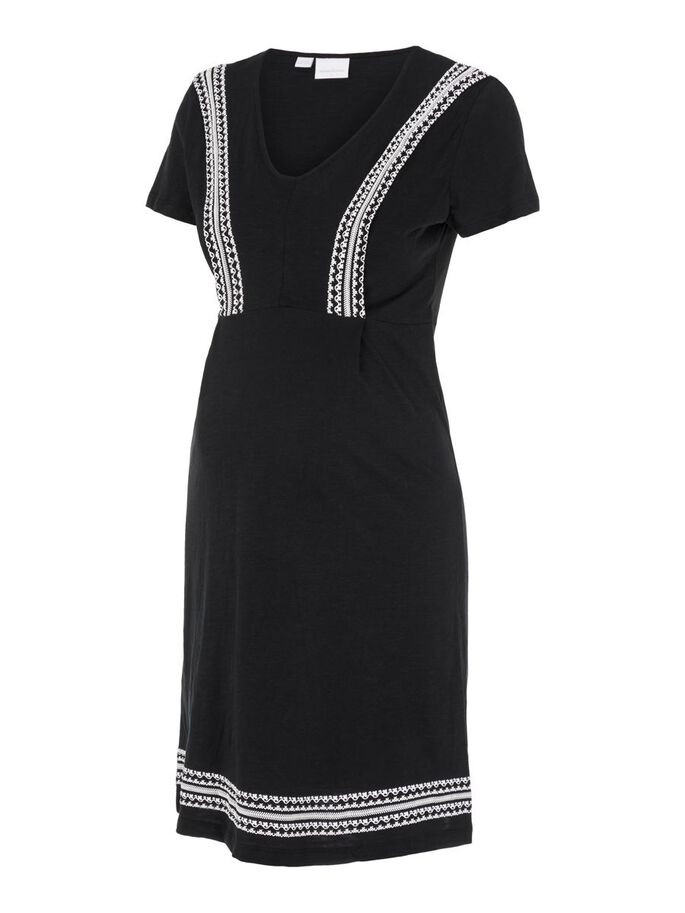 MLSLOAN NURSING DRESS, Black, large