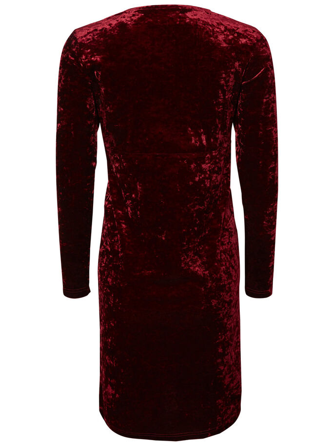 LONG SLEEVED MATERNITY DRESS, Zinfandel, large