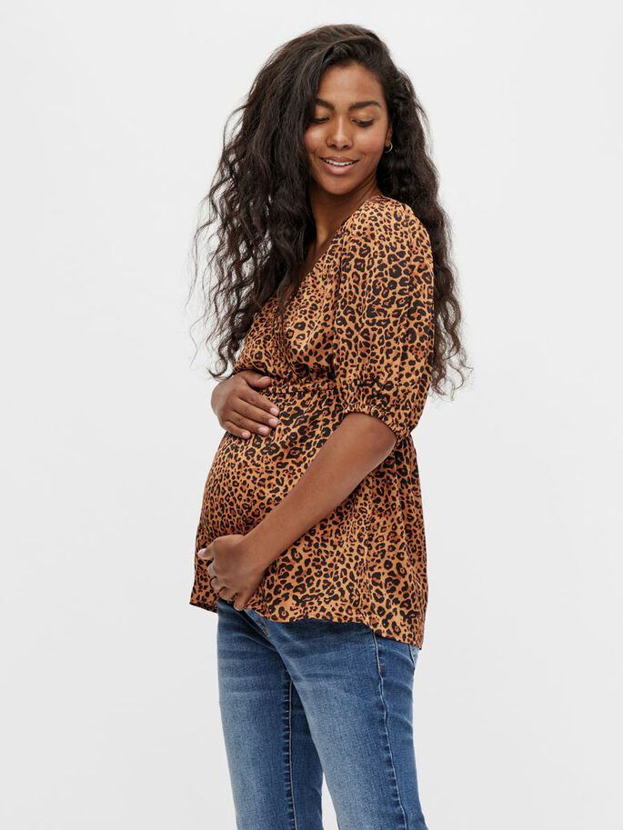 MLLETTY 2-IN-1 MATERNITY TOP, Caramel, large