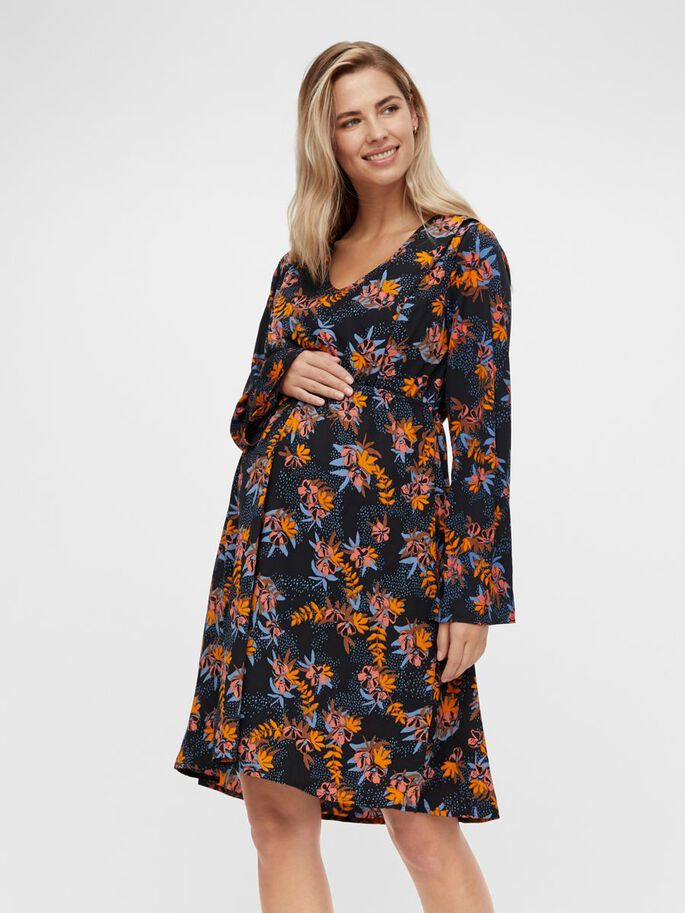 FLORAL PRINTED 2-IN-1 MATERNITY DRESS, Navy Blazer, large