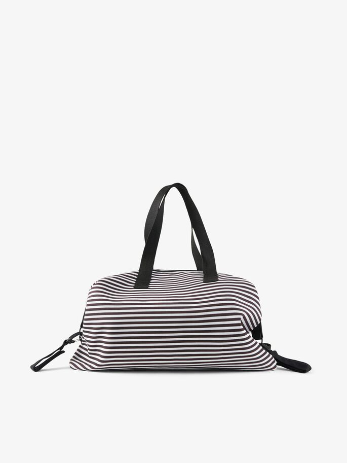MARINE STRIPED CHANGING BAG, Black, large