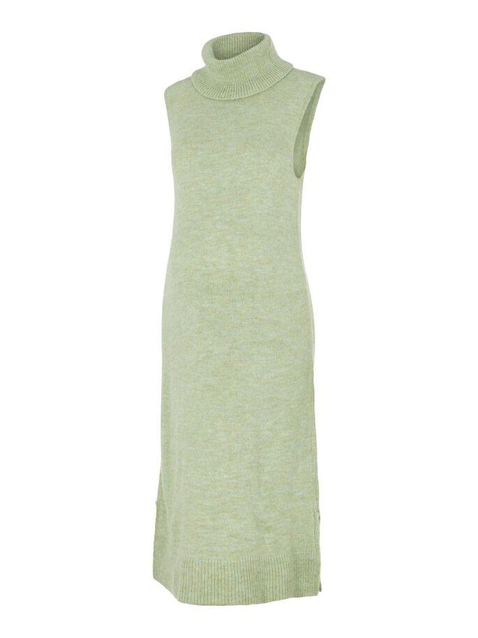 MAILLE COL MONTANT ROBE GROSSESSE, Frosty Green, large