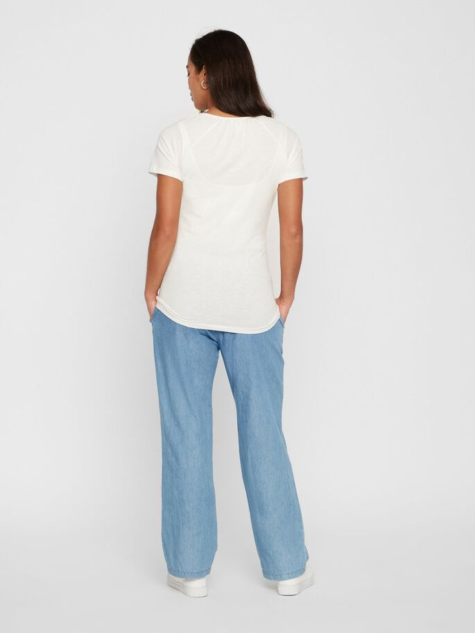 LOOSE FIT SMOCK MATERNITY TROUSERS, Light Blue, large