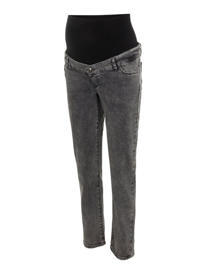 STRAIGHT FIT MATERNITY JEANS, Black Denim, large