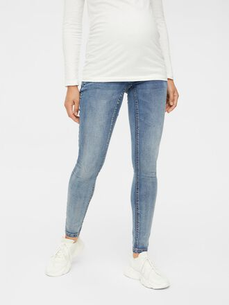 WASHED SLIM FIT MATERNITY JEANS