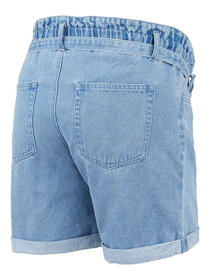 MLBARKA MATERNITY SHORTS, Blue Denim, large