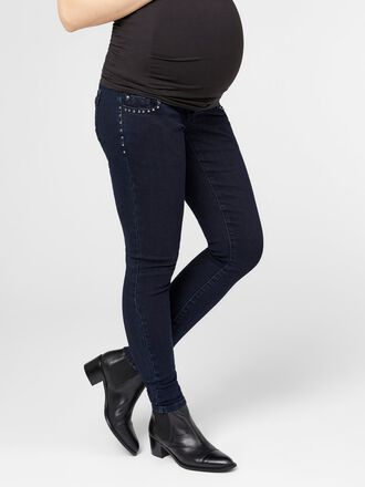 STUDDED SLIM FIT MATERNITY JEANS