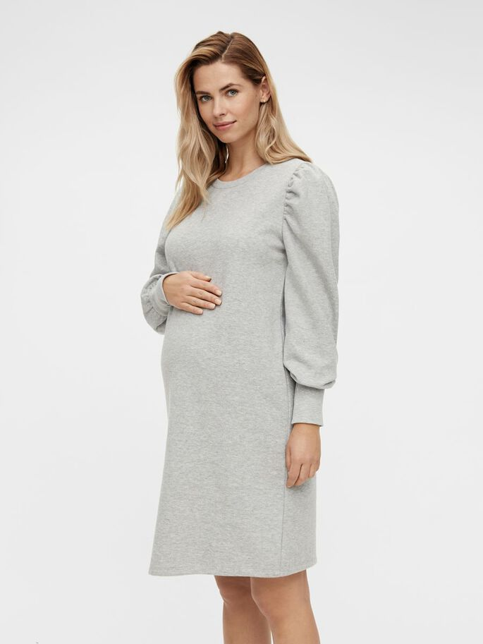 MLBRAELYN MATERNITY DRESS, Light Grey Melange, large