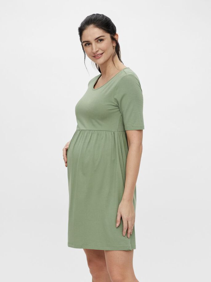MLELNORA MATERNITY MINI DRESS, Olivine, large