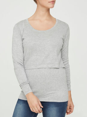 KNITTED NURSING TOP, LONG SLEEVED