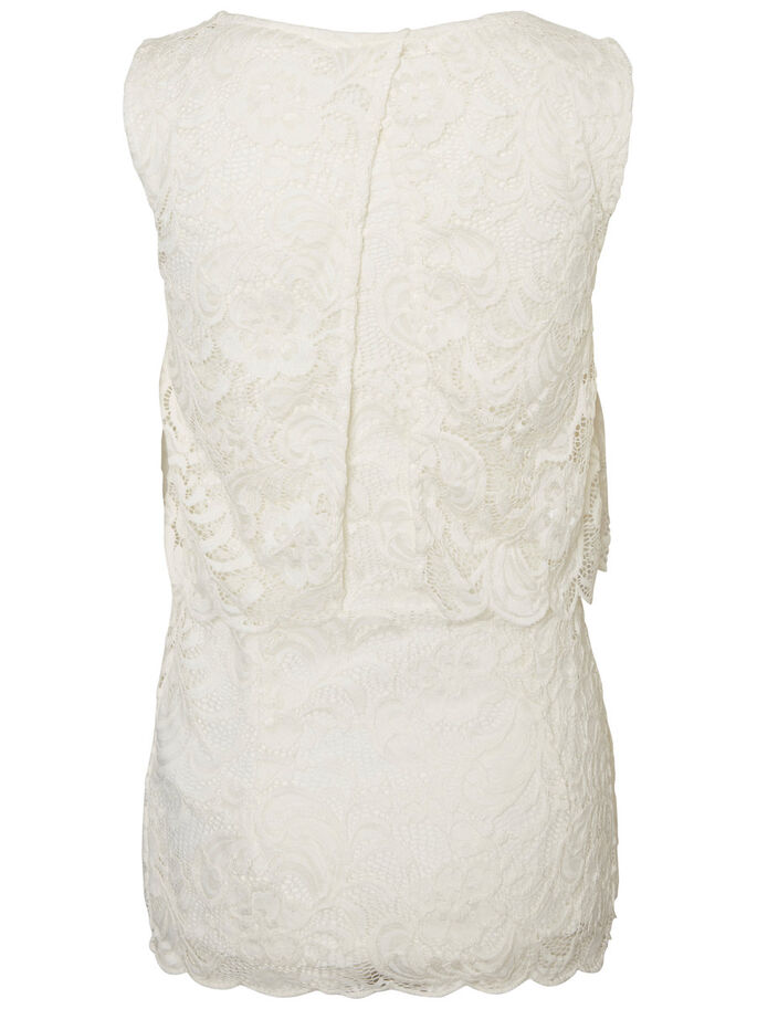 LACE NURSING TOP, SLEEVELESS, Snow White, large