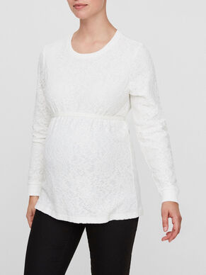 LACE DETAILED MATERNITY SWEAT